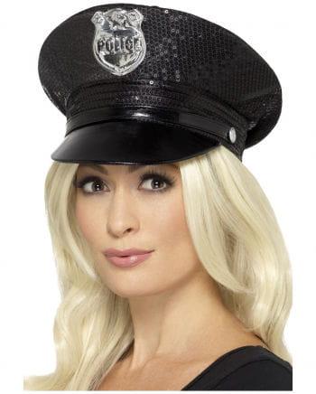 Polizei Schirmmütze mit Pailletten