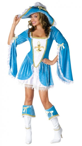 Sexy Musketeer Costume Turquoise Small Medium