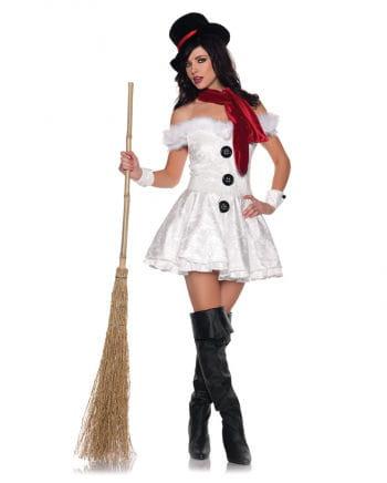 Heiße Schneefrau Premium Kostüm Gr. M