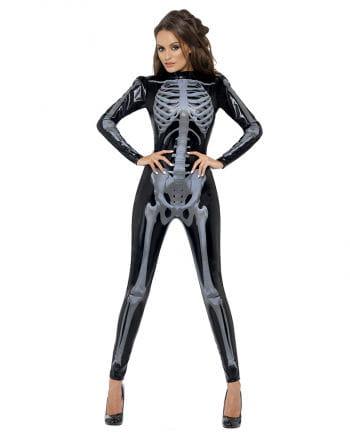 Skeleton black catsuit