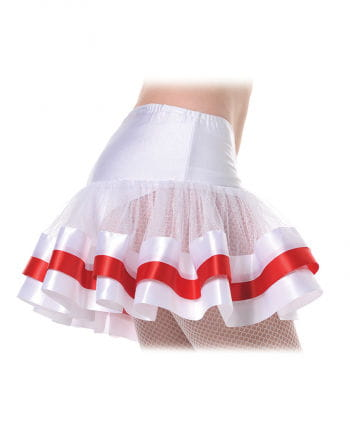 Petticoat white / red