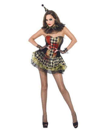 Sexy Zombie Clown costume for women
