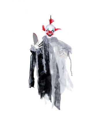 Moving Horror Clown with Knives