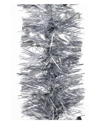 Tinsel garland gloss / matt - silver