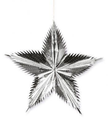 Deco silver star 50cm