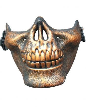 Totenkopf Halbmaske bronze