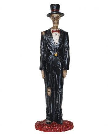 Skelett Bräutigam Dekofigur 13 cm
