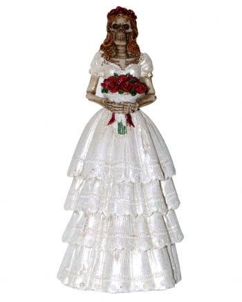 Skelett Braut Dekofigur 13 cm