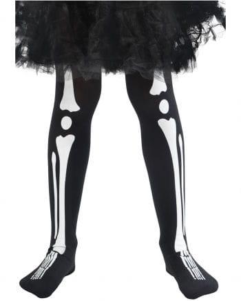 Kinderstrumpfhose Skelett