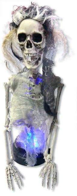 Skelett Braut mit LED