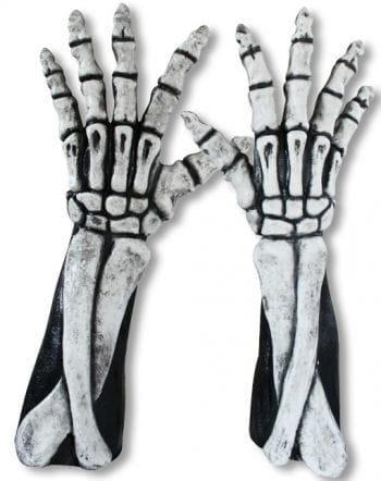 Lange Skelett Hände weiß