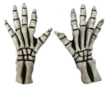 Skelett Handschuhe Kurz Weiss