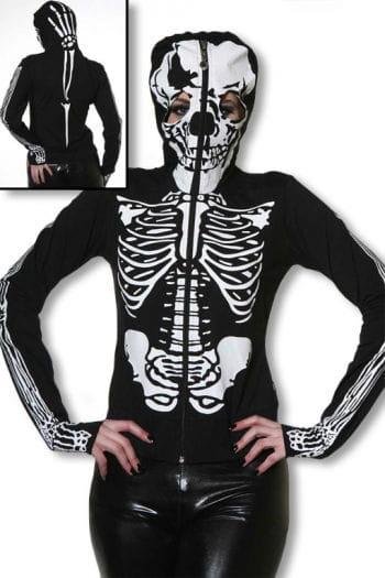 Skelett Hoodie mit Totenkopfmaske