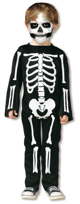 Skeleton Costume Toddlers L