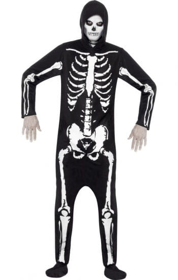 Skeleton costume with hood