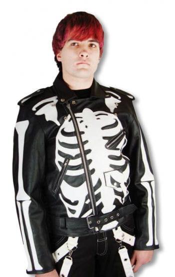 Skelett Lederjacke