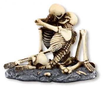 Skelett Liebespaar aus Kunstharz