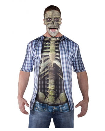 Skeleton Waist Shirt blue / white