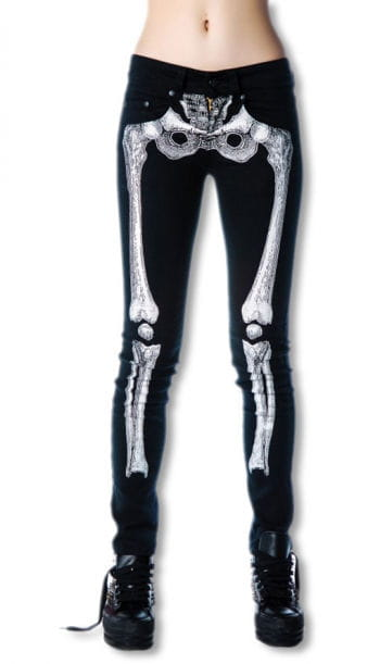 Skeletal skinny jeans