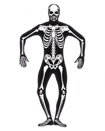 Skelett Skinsuit nachtleuchtend XL