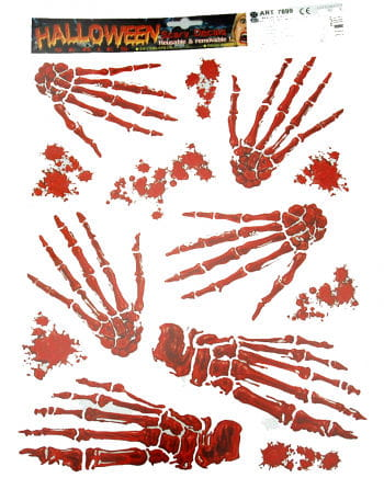 Skeleton Hand Sticker Set