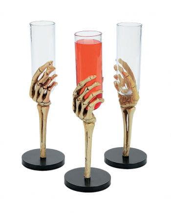 Skeleton Hand small Sektkelch