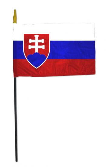Small Stock Flag SLOVAKIA