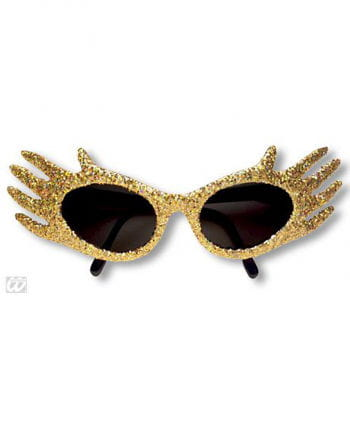 Space Jam Glitter Sunglasses Gold