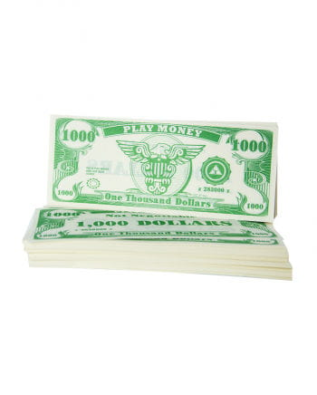 Play money dollar bills