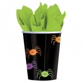 Spinnenmotiv Pappbecher