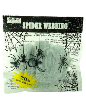 Weißes Spinnennetz 20gr.