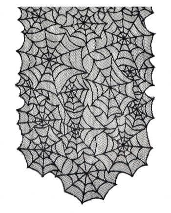Halloween Tischläufer mit Spinnwebenmotiv