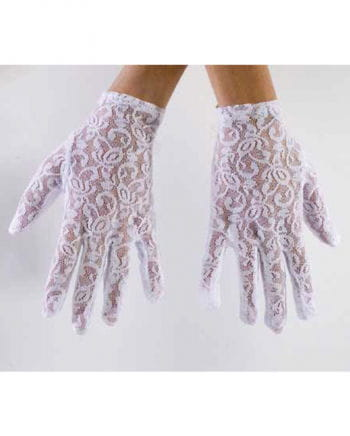 Lace gloves Short white
