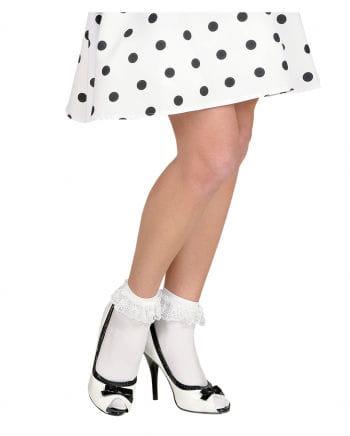 Weiße Rüschen-Socken