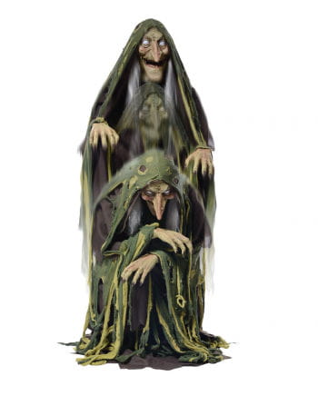 Speaking swamp witch rising with LED eyes