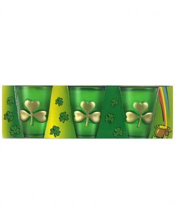 St. Patricks Day Schnapsglas Kleeblatt