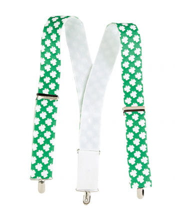 St. Patrick's Day Hosenträger grün/weiß
