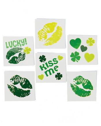 St. Patricks Day Kiss Tattoos