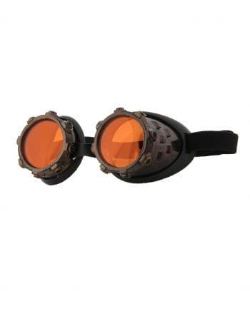 Aviator Steampunk Brille Kupfer