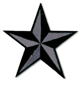 Star Patch Grey Black