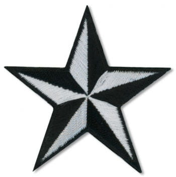 Star Patch Black and White