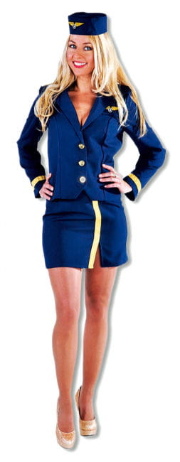 Stewardess Navy Kostüm blau
