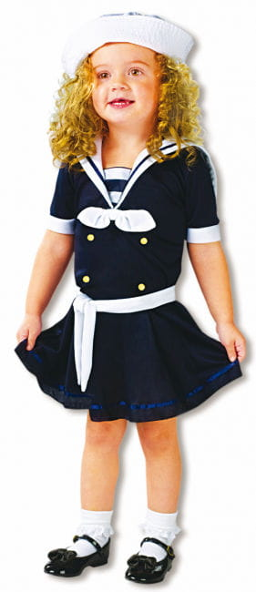 Sweet Sailor Girl Toddler Costume