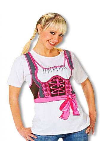 T-Shirt with Dirndl Print Plus Size