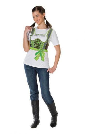 T-Shirt Dirndl green