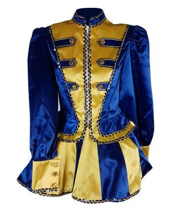 Funkenmariechen Gardeuniform Blau-Gelb Premium