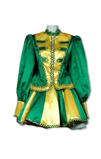 Gardemädchen Kostüm Premium grün/gelb