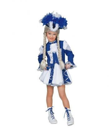Funkenmariechen Kinderkostüm blau/weiß