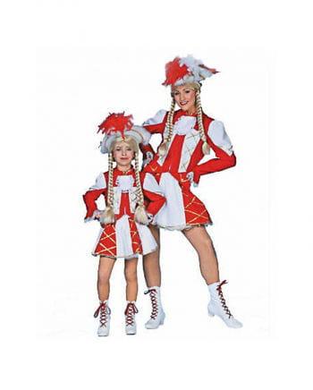 Tanzmariechen Women`s costume White / Red