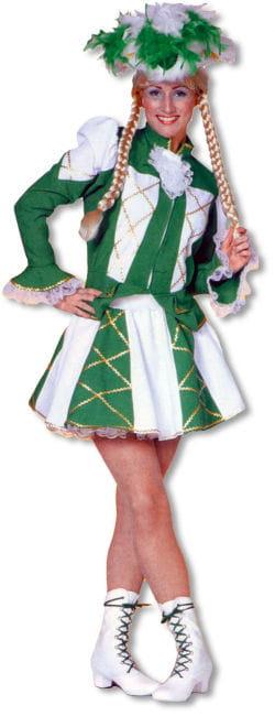 Tanzmariechen Damenkostüm Grün/Weiß